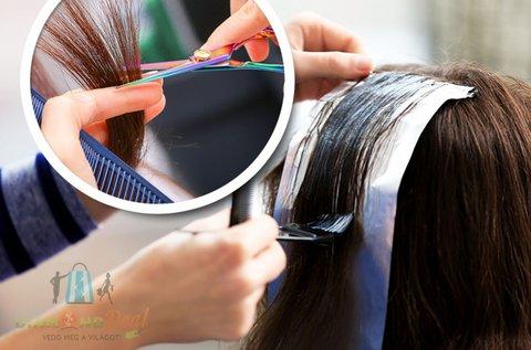 Melírozás hajvágással választható hajhosszra