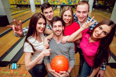 2 óra bowlingozás 3 adag mártogatóssal