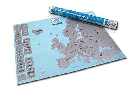 Európa kaparós térkép az utazás szerelmeseinek