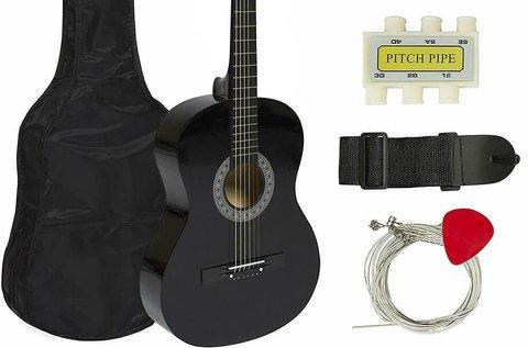 Kezdő akusztikus gitár szett puha tokban