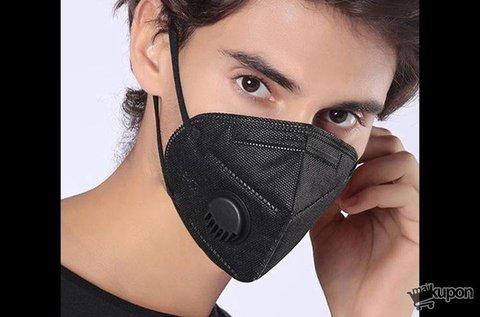 Fekete színű, KN95 szelepes szájmaszk