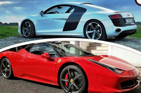 Audi R8 és Ferrari 458 Italia közúti élményvezetés