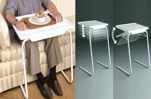 Sokrétűen használható összecsukható kisasztal
