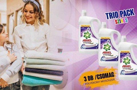 3x4,55 l-es Ariel mosógél színes vagy fehér ruhákhoz