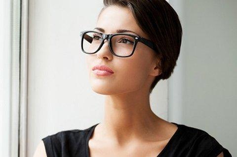 UV szűrős szemüveg vékonyított lencsével
