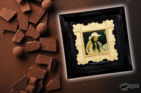 250 g-os egyedi csokikép belga csokoládéból