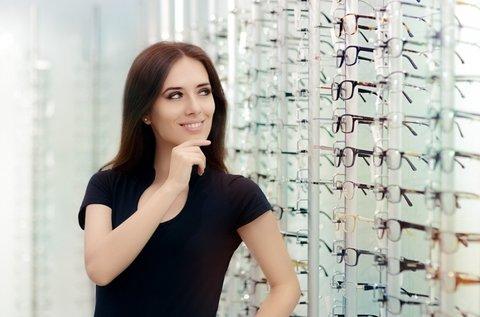 A Neked való szemüveg látásvizsgálattal, kerettel