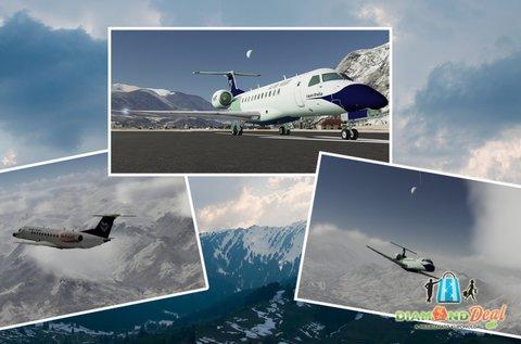 1 órás Alpok feletti repülővezetés szimuláció