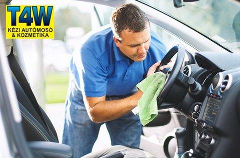 Teljes prémium autómosás üléskárpit tisztítással