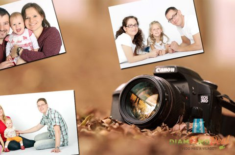 Műtermi vagy kültéri családi fotózás akár 6 fővel
