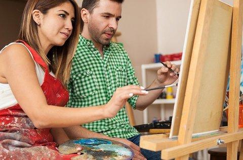 Valentin-napi páros festés közös kép készítéssel