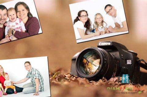 Műtermi vagy kültéri családi fotózás 100 db képpel