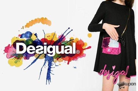 Vagány Desigual kislány pamut ruha pink táskával