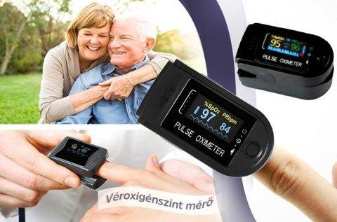 Véroxigénszint-mérő nagyméretű LCD kijelzővel