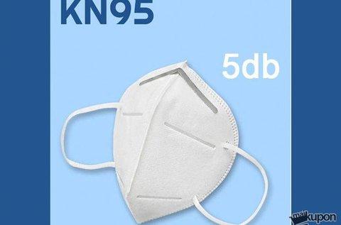 5 db többször használatos KN95 típusú szájmaszk