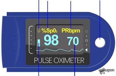 Ujjra csíptethető pulzus- és véroxigénszint-mérő