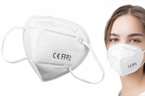 FFP2 típusú szájmaszk gumis rögzítéssel