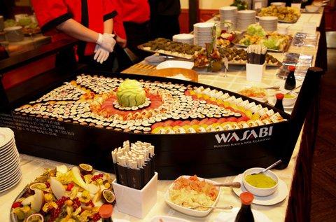 Korlátlan ételfogyasztás a Wasabi Extra étteremben