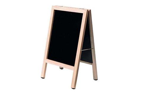 Kétoldalas, krétával írható fekete tábla