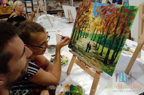 Páros festő workshop közös kép készítéssel