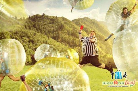 Vicces, szórakoztató buborékfoci 1 órán át