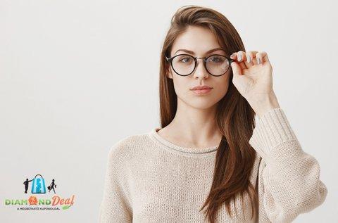 Trendi szemüveg készítése látásvizsgálattal