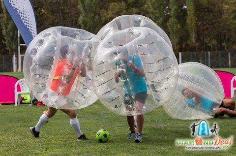 1,5 órás buborékfoci bérlés 10 vagy 14 buborékkal