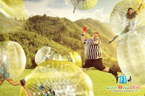 Felhőtlen szórakozás 1 órás buborékfoci bérléssel