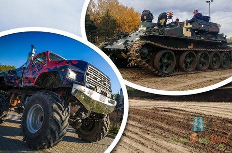 20-20 perc tank és Big Foot élményvezetés Gyálon