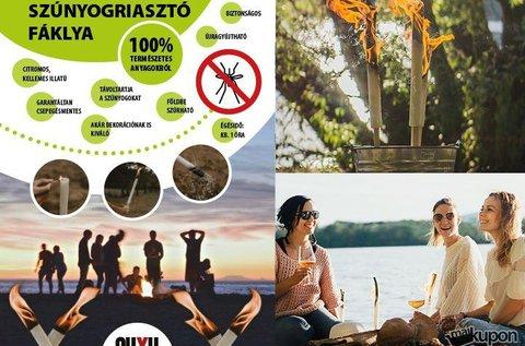 2 db szúnyogriasztó fáklya természetes citromolajjal