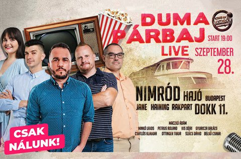Stand up comedy live estek a Nimród hajón