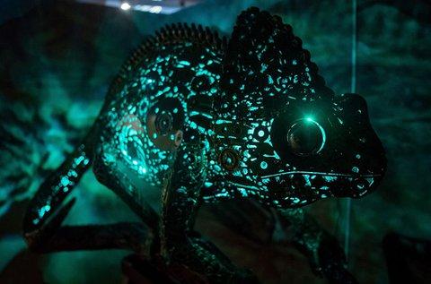 Belépő a Metal Art Gallery trash art kiállítására