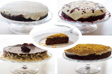 Választható ínycsiklandó egészséges torták