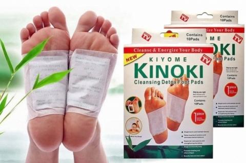 2 csomag, 20 db Kinoki méregtelenítő talptapasz