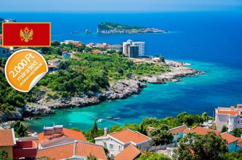 1 hét Montenegró homokos tengerpartján 4 főre