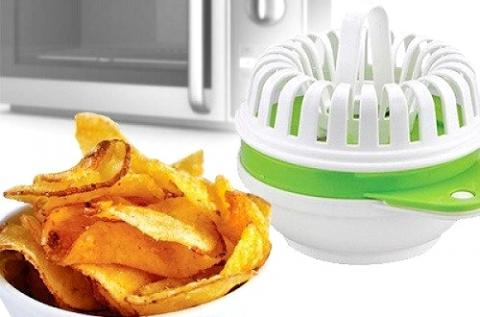 Egészséges chips készítő mikrohullámú sütőbe