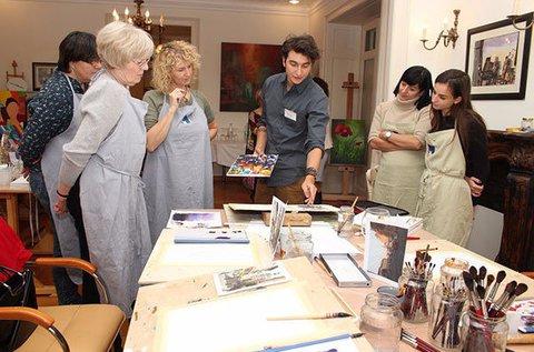 Művészeti kiállítás és workshop