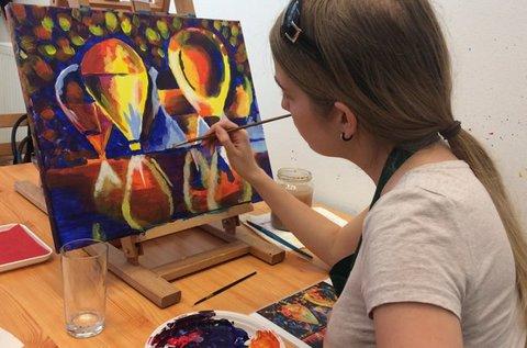 3 órás kreatív élményfestés 15 választható témában
