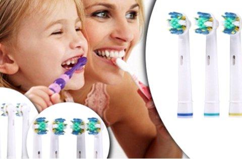 4 db Oral B kompatibilis elektromos fogkefe fej