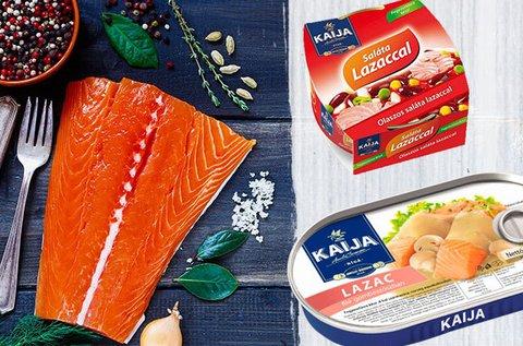 Kaija lazacfilék szószokban és tonhalsaláták