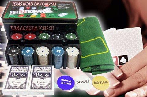 Komplett pókerkészlet 200 db zsetonnal
