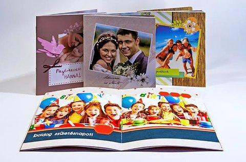 40 oldalas, négyzet alakú egyedi fotókönyv