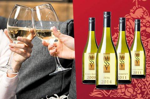 4 féle tokaji bor vagy 4 palackos borcsomag