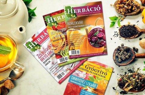 Herbáció magazin éves előfizetés és lapcsomag