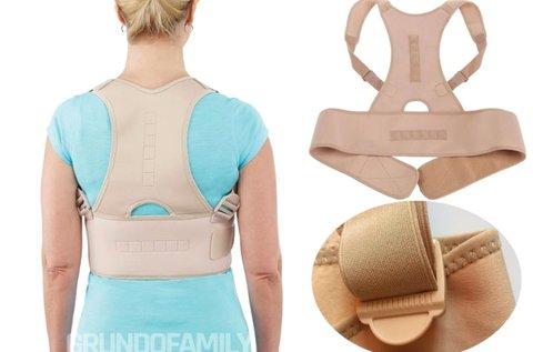 Tartásjavító gerincvédő állítható pántokkal