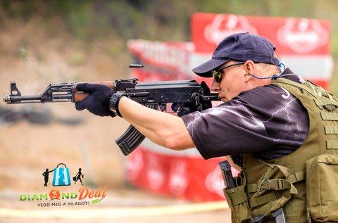 60 lövés 3 féle nagy kaliberű fegyverrel Ráckevén