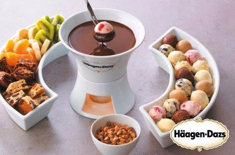 Haagen-Dazs jégkrém fondü 2 főnek belga csokival