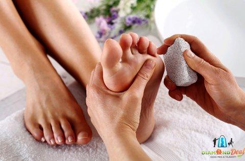 Gyógypedikűr teljes spa kezeléssel az ápolt lábakért