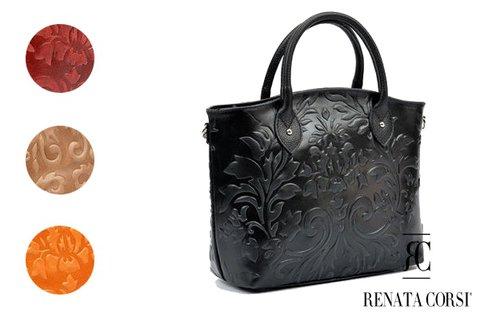 Renata Corsi Fiore női bőrtáska virágos mintával