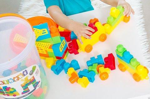 107 db-os építőkocka játék
